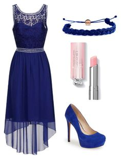 """Ocean blue by Anna"" by lorena-cuttler on Polyvore featuring Dorothy Perkins, Jessica Simpson and Domo Beads"