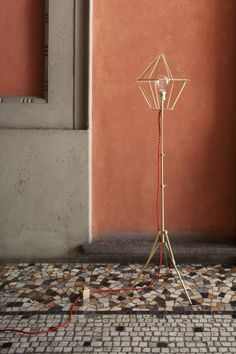 """Black Diamond Bay"" brass lamp, 2012 by Atelier Biagetti"