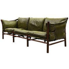 "Arne Norell Leather Sofa, Model ""Ilona"""