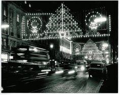 #Regent Street Christmas Lights 1985 - White Lights designed by Peter Mishcon.