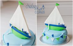 Sail Boat 1st Birthday Cake