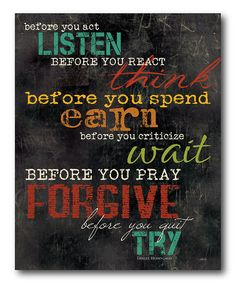 This 'Before You Act Listen' Gallery-Wrapped Canvas by COURTSIDE MARKET is perfect! #zulilyfinds