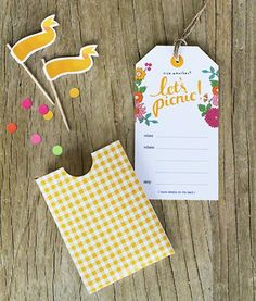 Lets Picnic Tags! let's picnic! picnic The cutest cake! Party Printables, Free Printables, Picnic Invitations, Printable Invitations, Invitation Cards, Print Invitations, Invitation Maker, Pocket Invitation, Shower Invitation