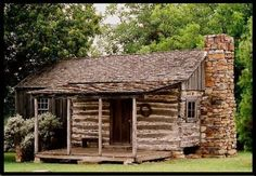 Top Three By Thirty, Texas log cabin Log Cabins For Sale, Old Cabins, Small Log Cabin, Little Cabin, Log Cabin Homes, Cabins And Cottages, Cozy Cabin, Cabins In The Woods, Small Cabins