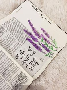 i need to find a lavender watercolor tutorial! ♡ Emmy Kate on pinny, Ich muss ein Lavendel Aquarell Tutorial finden! Art Journaling, Bible Journaling For Beginners, Bible Study Journal, Bible Doodling, Bible Prayers, Bible Scriptures, Bibel Journal, Bible Notes, Bible Verses