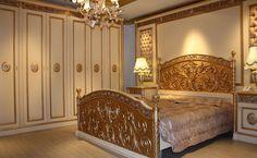 Antik krem lake zemin üzerine altın varak uygulaması ile süslenen klasik yatak odası sahip olduğu ihtişam ile yaşam mekânlarınıza değer katacak. http://www.asortie.com/yatak-odasi-210-Artemis-Klasik-Yatak-Odasi