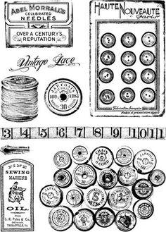 Vintage Sewing Needs. Vintage Labels, Vintage Ephemera, Vintage Cards, Vintage Sewing, Printable Labels, Printable Paper, Printable Vintage, Etiquette Vintage, Stencil