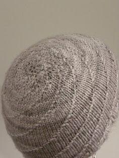 Knit Spiral hat pattern.