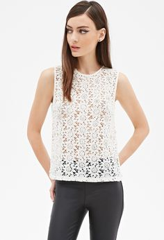 Embellished Crochet Lace Top