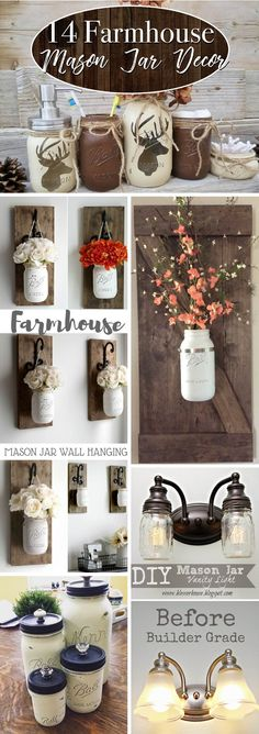 14 Farmhouse Mason Jar Decor Inspirations That Are No Less Than Fabulous!