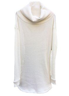 zero - Cotton Stretch High Neck Long Cut Sewn - 19,000JPY