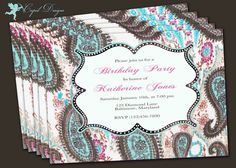 Adult Birthday party invitation printable by CupidDesigns on Etsy, $20.00