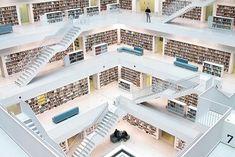 La bibliothèque publique de Stuttgart, Allemagne © O Palsson
