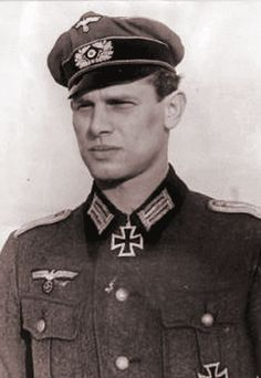 "Oberleutnant Günter Amelung (posthumously promoted Rittmeister), 8 April 1914 – 29 March 1944. Famous for turning impossible odds around by fluidly outmanoeuvring his enemies, he was devastating to the Russians on the Eastern Front. After he had died, in battle near Oborova, Generalmajor Helmuth von Pannwitz, would say: ""If only we could get back Günter ..."". He was awarded the Knight's Cross of the Iron Cross."