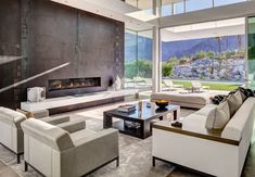 What do you think of this modern abode with such a view?