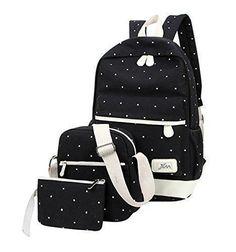 Oferta: 14.52€. Comprar Ofertas de MingTai lona mochila escolar juvenil bolsas de colegio Bolsos de las mujeres bookbags cartera del bolso La 3pcs barato. ¡Mira las ofertas!