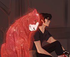 Keith and the red lion