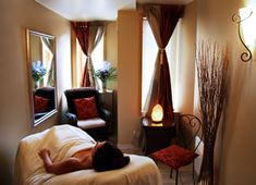 facial treament rooms | steam room terrace facial room lounge pedicure station vichy shower