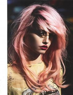 Charolette Free rocks her constantly changing pink hair.