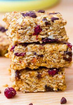 No-Bake Peanut Butter Trail Mix Bars.