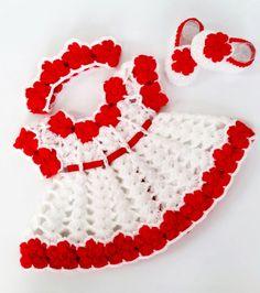Baby crochet pattern Baby dress Pattern Crochet shoes