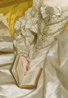 The Comtesse d'Egmont Pignatelli in Spanish Costume by Alexander Roslin, 1763 (detail)