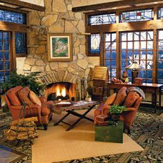 Big Cedar - Southern Livings   Coziest Fireplaces  Nestle into this cozy room with a flue in the heart of Missouri's Ozark Mountains.