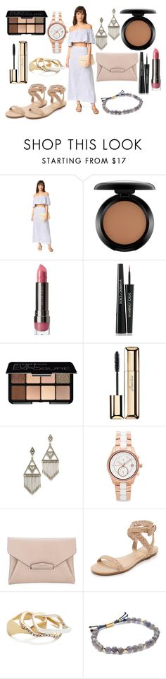 """""""Effortless Summer"""" by hillarymaguire ❤ liked on Polyvore featuring Thayer, MAC Cosmetics, LORAC, Dolce&Gabbana, Smashbox, Guerlain, House of Harlow 1960, Michael Kors, Givenchy and Joie"""