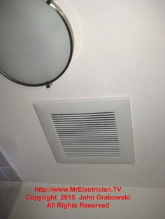 8 replacing a bathroom exhaust fan