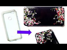 Phone Case Acrylic Painting- DIY   Floral design   DIY #withme - YouTube Diy Phone Case, Phone Cases, Floral Design, Design Art, Using Acrylic Paint, Dot Painting, Diy For Kids, Projects To Try, Paper Crafts