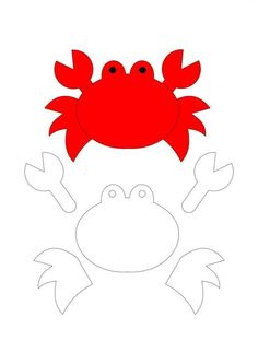 Seabed Molds - Felt Animals and Marine Vegetation Felt Animal Patterns, Felt Crafts Patterns, Applique Patterns, Stuffed Animal Patterns, Quiet Book Templates, Felt Templates, Busy Book, Mermaid Birthday, Animal Crafts