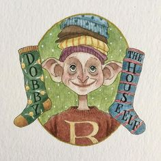 946 отметок «Нравится», 16 комментариев — Melody Howe (@theimaginativeillustrator) в Instagram: «Dobby the House elf! I think of all the deaths in the books, Dobby's hits me the hardest without…»
