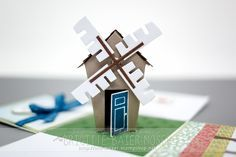 The Home Sweet Home bundle makes so many different types of houses, why not a windmill too! #stampinup #holidaymini2016