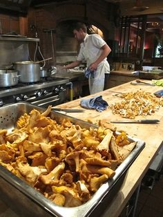The kitchen at Alice Waters' Chez Panisse