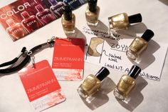 NYFW SS15 - Zoya Nail Polish backstage at Zimmermann featuring the perfect gold - Ziv!