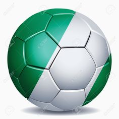 Nigeria Flag On Soccer Ball Stock Photo, Picture And Royalty Free ...