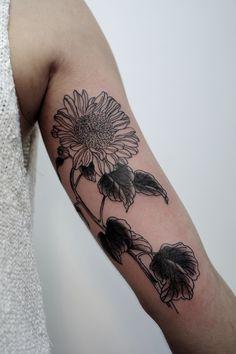 delicate sunflower tattoo - Google Search