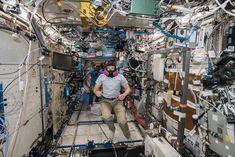 Space in Images - 2018 - 09 - Alexander during emergency training on the Space Station Volunteer Firefighter, International Space Station, Astronauts, Drills, Training, Earth, School, Photos, Image