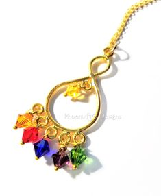 the latest a3565 3b01c Infinity Stones Necklace   Marvel Avengers Endgame Inspired Jewelry    Thanos Gauntlet   18k Gold Overlay