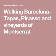 Walking Barcelona - Tapas, Picasso and vineyards of Montserrat