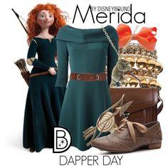 Disney Bound: Merida from Disney's Brave (Dapper Day Outfit) Disney Princess Outfits, Disney Themed Outfits, Disney Bound Outfits, Disney Dresses, Casual Cosplay, Cosplay Outfits, Cosplay Costumes, Merida Outfit, Merida Dress
