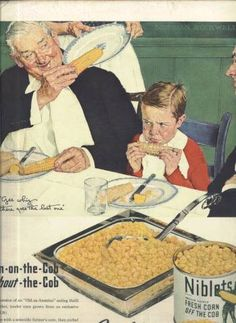 Norman Rockwell ad for Niblets Corn in LIFE Magazine, December 2, 1945 issue
