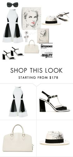 """""""Fashion sketch"""" by zabead ❤ liked on Polyvore featuring David Koma, L'Autre Chose, Louis Vuitton, Sensi Studio and Tom Ford"""