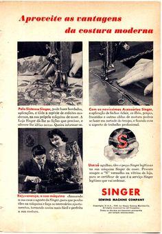 """* Máquina de Costura """"Singer"""" *"""