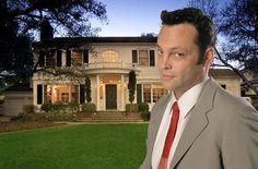Vince Vaughn's La Canada Flintridge home. The house has a large gourmet kitchen, stately library, swimming pool and sport court in the backyard