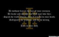 Knights oath - kingdom of heaven