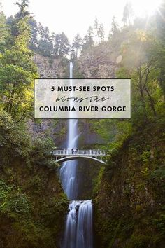 Acting as a border between Oregon and Washington, The Columbia River Gorge is home to over 26 waterfalls as well as several streams, trails, and lookouts.