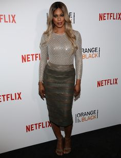Laverne Cox at the premiere of Orange is the New Black at SVA Theater in New York City on June 16, 2016