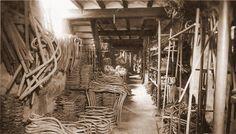 Almacén de componentes curvados de la Fabrica Ventura Feliu (1909)