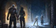 Geralt, Yennefer, Ciri and Emhyr